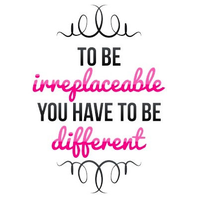 Be Irreplaceable Be Different Pink
