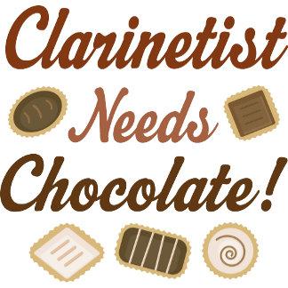 Clarinetist Needs Chocolate Hoodies and Tshirts