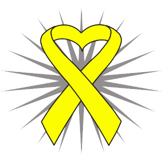 Suicide Prevention Heart Awareness Ribbon