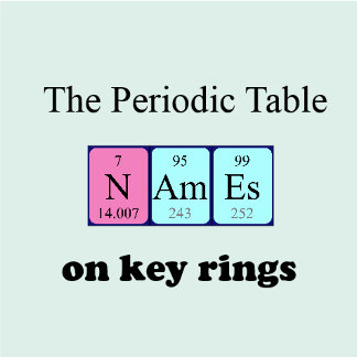 Periodic table keyrings