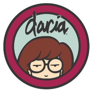 Daria Circle Logo Aqua/Plum