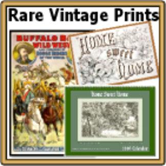 * RARE VINTAGE Prints & Cards