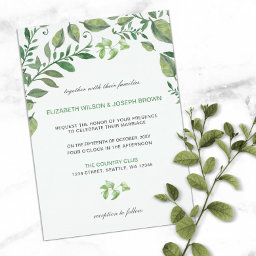 Botanical Greenery Wedding Invitations Suite