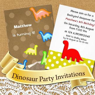 Dinosaur Birthday Invitations