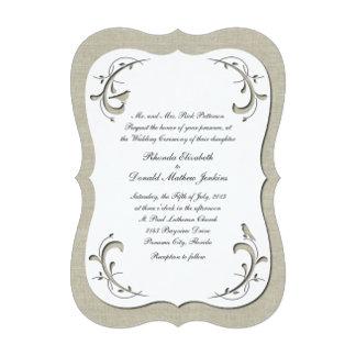 Elegant Cutout Look Wedding Invitation Set