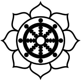 Lotus Flower Dharma Wheel