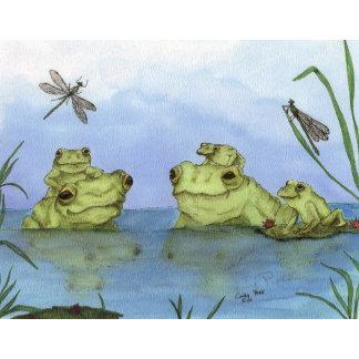 Frogs Flowers Garden
