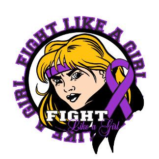 Epilepsy Fight Like A Girl Attitude