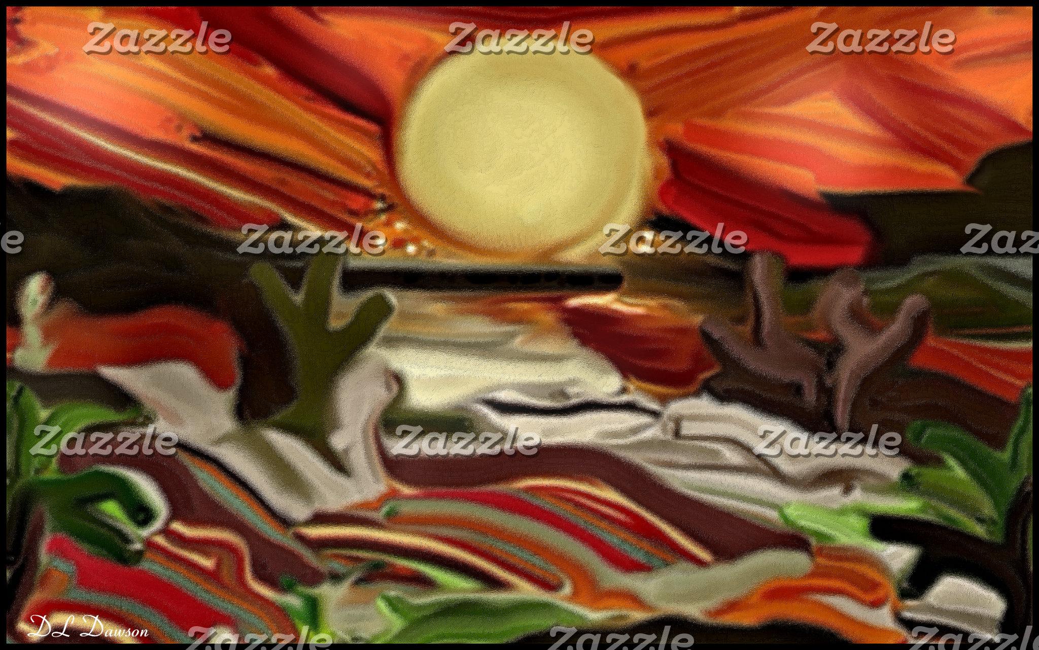 Southwestern Skies Abstract Art