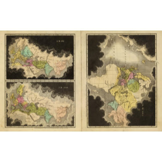 engraved maps of the world
