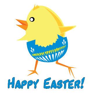 Running Easter Chick