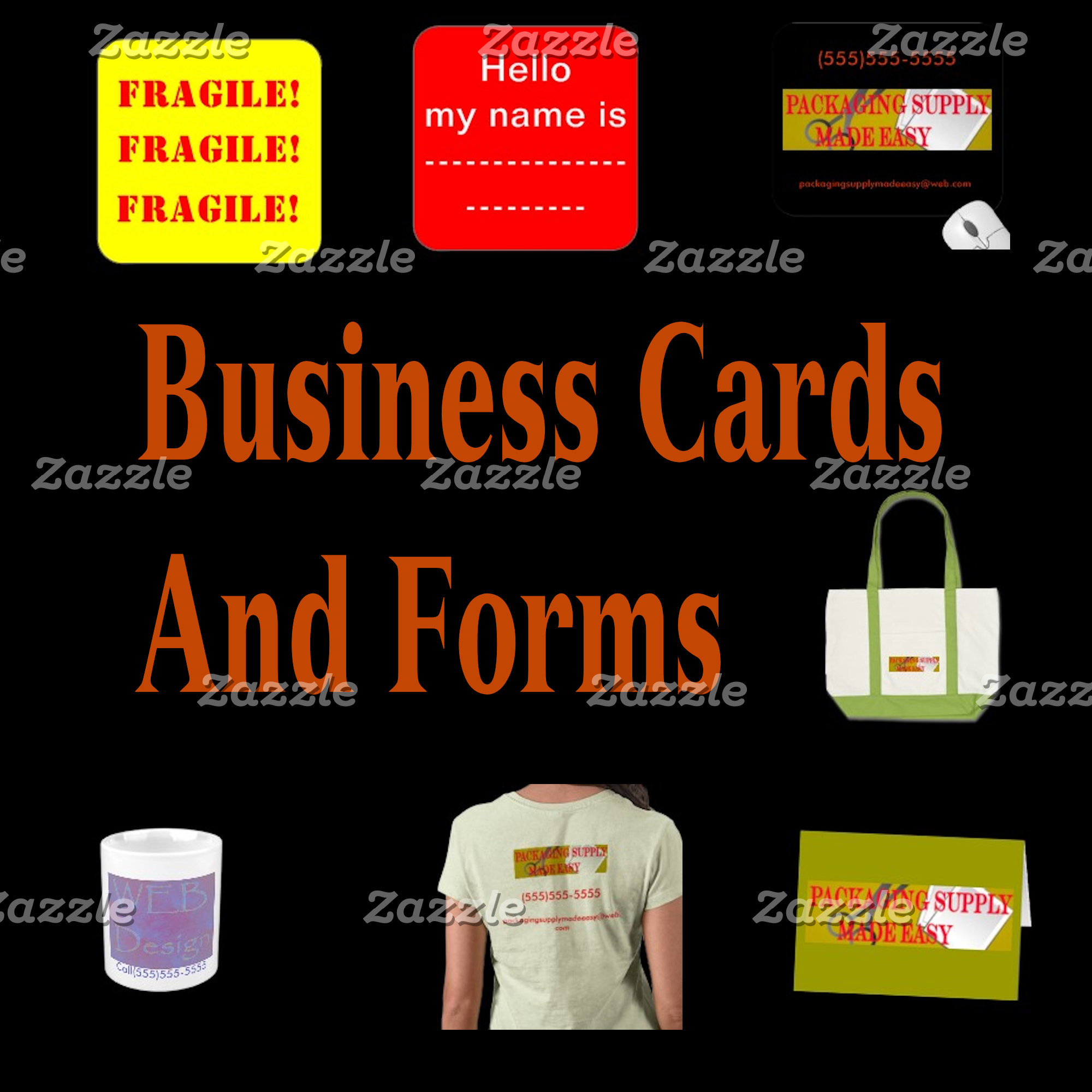Customize Business Cards And Forms