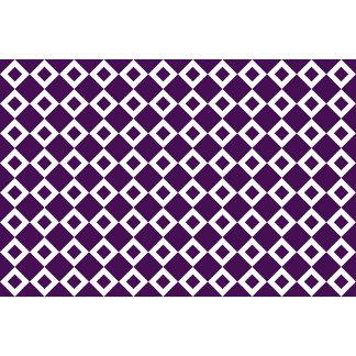 Purple and White Diamond Pattern