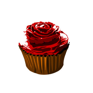 Rose cupcake template products