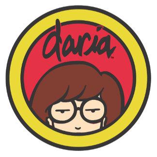 Daria Circle Logo Red/Gold
