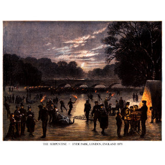 1870 Ice Skating Party in London