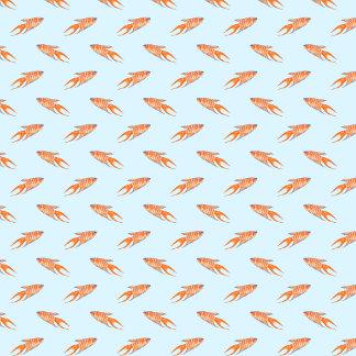 Paradise Fish Pattern - On Light Blue