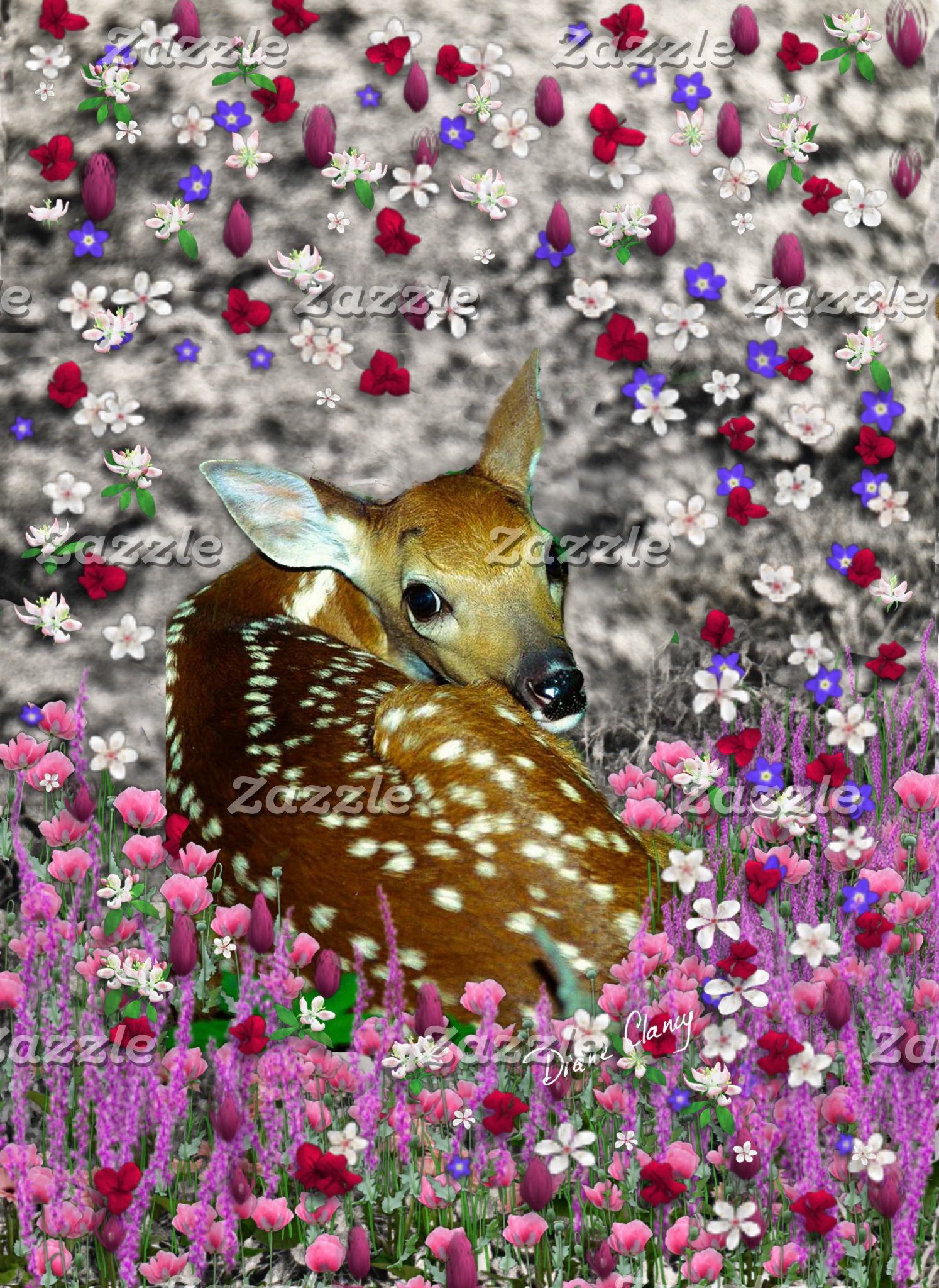 Bambina the Fawn in Flowers II