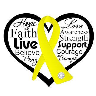 Suicide Prevention Heart Ribbon Collage