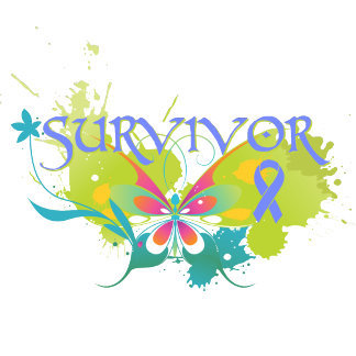 Abstract Butterfly Esophageal Cancer Survivor