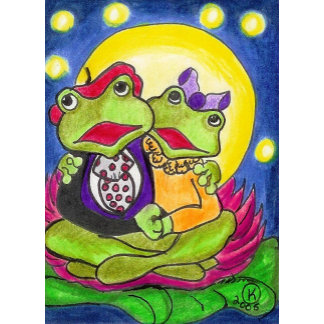 Frog Art - Romantic, Valentine's -- Fun!