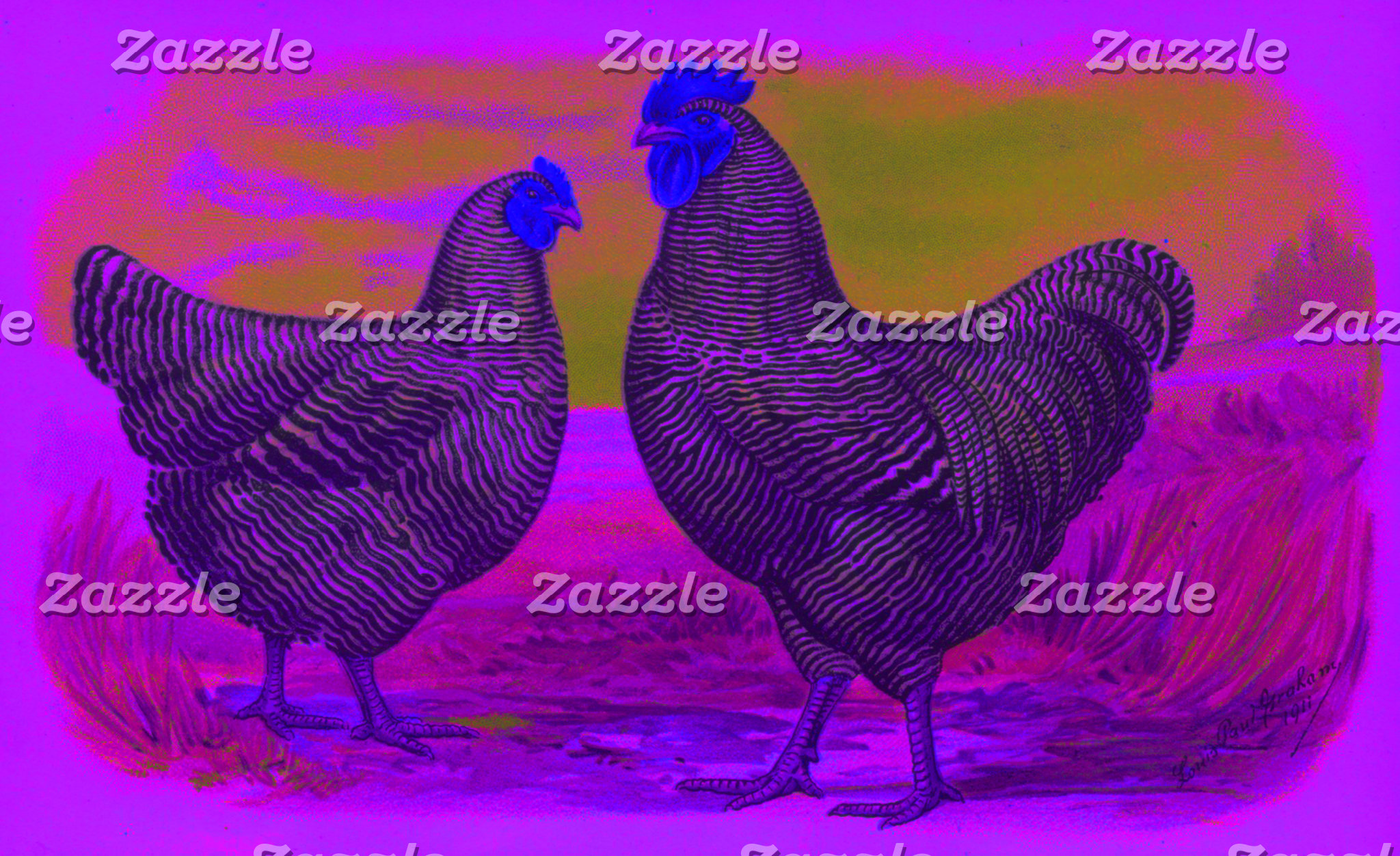 Electric Rooster (7 Designs)