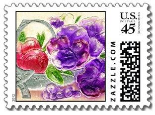 """Modern """"Vintage"""" Postage Stamps"""