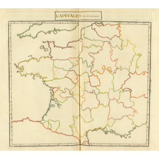 France  Capitals Outlines