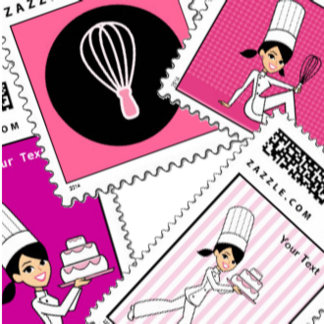 Postage Stamps Custom Stamps Chef Themed