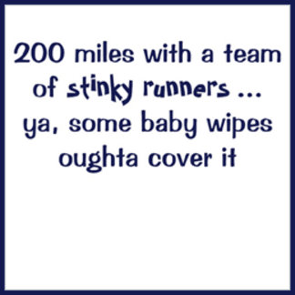200 miles with a team of stinky runners ...