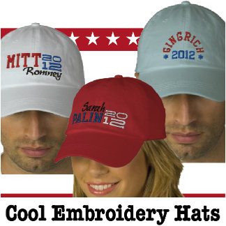 Political Embroidery Hats