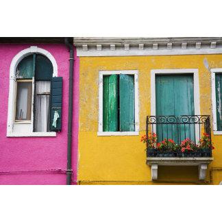 Island of Burano, Burano, Italy. Colorful 5