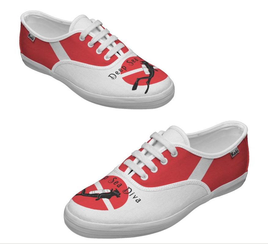 Kids & Women SCUBA Shoes Customized Keds Tennis