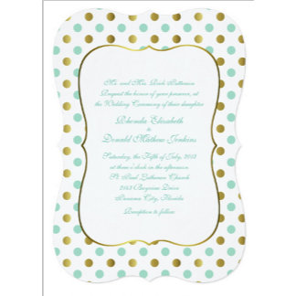 Mint Green and Gold Wedding Set