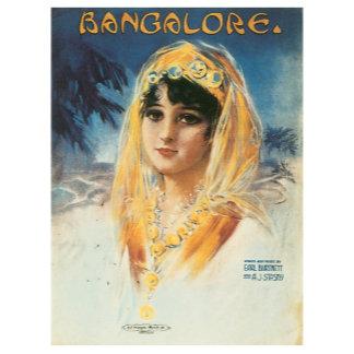 Bangalore ~ Vintage Song Sheet Music Art