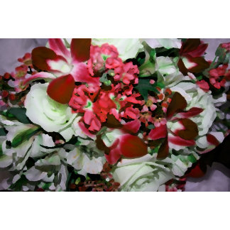 flower abstract red white pretty floral design