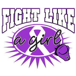 Epilepsy Fight Like A Girl Sporty Callout