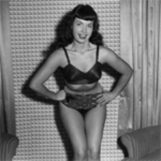 Bettie Page Vintage Photo with Hands On Hips