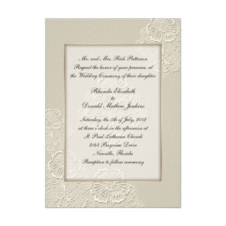 Ivory Embossed Look Floral Wedding Products