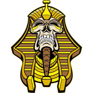 Skull Pharaoh With Golden Head Dress