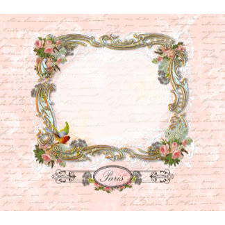 Pink Roses & French Script Writing