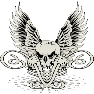 Wicked Winged Skull
