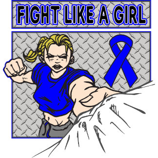 Colon Cancer Fight Like A Girl Punch