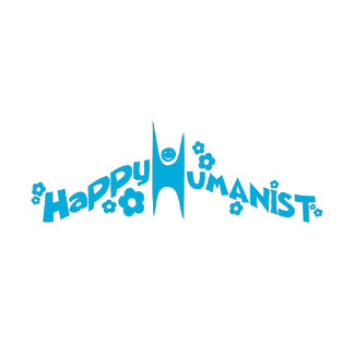 Groovy Happy Humanist Blue