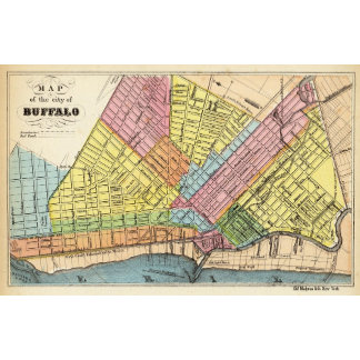 Map of The City of Buffalo