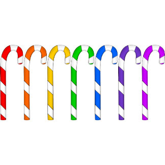 Candy Canes - Rainbow Of Flavors