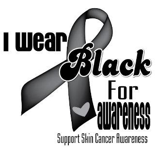 I Wear a Black Ribbon Skin Cancer Shirts and Gifts