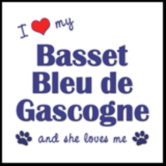 I Love My Basset Bleu de Gascogne (Female Dog)