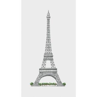Illustration of Eiffel Tower in Paris, France.