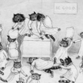 Naughty Cats in the Dormitory